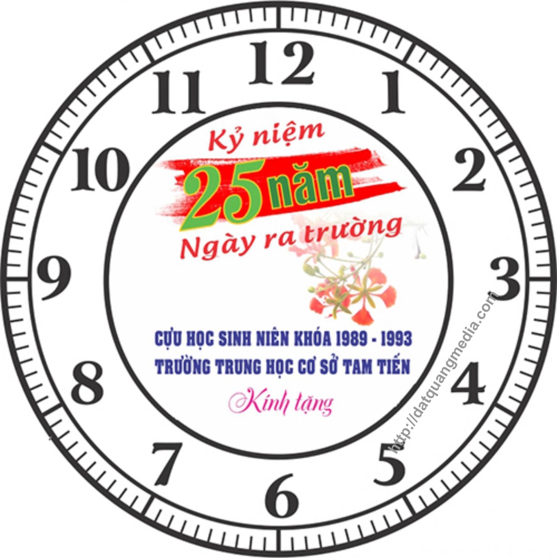 Đồng hồ lưu niệm 25 năm ngày ra Trường niên khóa 89-93 của Trường THCS Tam Tiến, Núi Thành